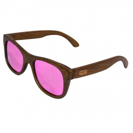 Gafa de Madera Bamboo - Cristal Rosa - Mod. Pink Panter